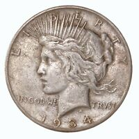 Raw 1934-S Peace $1 Uncertified Ungraded San Francisco Silver Dollar Coin