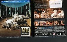 Ben-Hur Blu Ray Diamond Luxe Edition (2014) New 3-Disc Set Charlton Heston 1959