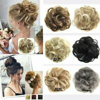 Women Messy Curly Chignon Messy Curly Bun Updo Clip in Hair Piece Extensions