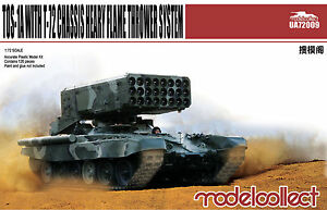 Modelcollect 1/72 Kits TOS-1A Heavy Flame Thrower System w/ T-72 Chassis UA72009
