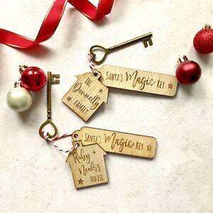 Personalised Santa's Magic Key, Father No Chimney Christmas Eve Box, Milk Bottle