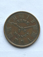 1837 Time Is Money - New York City Hard Times Token - Smith's Clock
