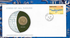 Coins of All Nations East Caribbean States St. Lucia 1 Dollar 1981 UNC