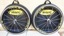 Mavic Cosmic Carbone Carbon Clincher Wheelset Shimano freehub w/ skewers, bags..