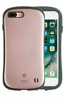 Hamee iFace Metallic Protective Case for iPhone 7Plus Rose Gold with Car Mount