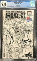 Immortal Hulk #20 SDCC 2019 PX Exclusive Sketch Variant CGC 9.8 WHITE PAGES