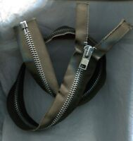 26 inch Grey /& Aluminum #10 Heavy Duty Separating Lenzip Zipper NOS