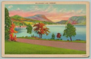 Vermont~Willoughby Lake~1940s Linen Postcard