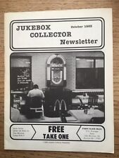Jukebox Collector Newsletter October 1983- 74 Th Issue