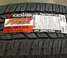 4 New P 265 70 17 Yokohama Geolandar A/T G015 Tires