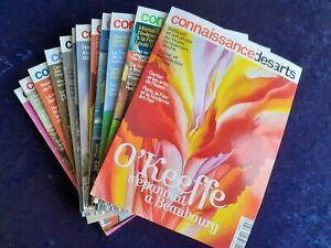 Lot comprenant les 12 derniers numéros de Connaissance des arts N°796 à 807
