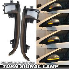 For Audi A3 S3 8P A4 S4 B8 A5 Dynamic Blinker LED Turn Signal Light Mirror  O