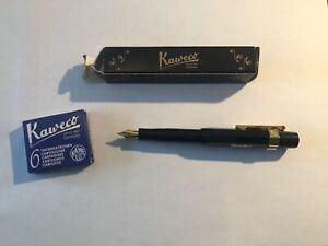 Kaweco Sport Skyline Fountain Pen black With Blue Ink Cartridges German Made