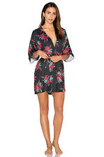 NWT MINKPINK HOLYDAY DREAMING MODCLOTH DREAM A LUSCIOUS NIGHT ROBE M/L BLACK