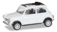 Austin Mini Cooper blanche Tt open & anti-brouillards - Herpa - scale 1/87 (Ho)