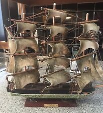 Model Ship-Whaling Ship-Clipper 1846-Assembled-17.5x15.5 Inches