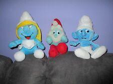 3 smurf plushes Papa Smurf,boy smurf & Smurfette