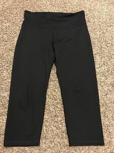 old navy active go dry womens XL black fitted capris a15