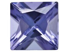 Rare Tanzanite, square princess cut, dark blue-purple,1.25ct 6mm, loose gemstone