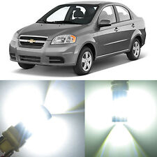 Alla Lighting Front Turn Signal Light 1157NA White LED Bulb for Chevy Aveo Aveo5