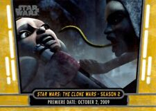 Star Wars 40th Anniversary Gold Parallel Card, #11 The Clone Wars S2, Topps