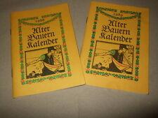 2xAlter Bauernkalender 1988 & 1989,DDR,Gartentips,Bild.s.Text