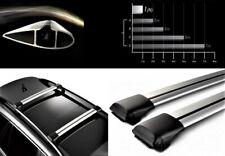 Lockable AeroWingBar Roof Rack Cross Bar Set Fits Fiat Croma Wagon 2005-2010