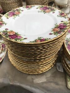 ROYAL ALBERT OLD COUNTRY ROSE 21 Cm Side  PLATES X 6