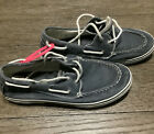 SPERRY TOP SIDER - Halyard 2-Eye Boat Shoes Lace Up Canvas 0777914 Blue Mens 4.5
