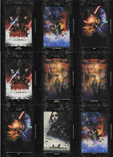 2018 Star Wars Galactic Files Black Base Patch Movie Poster Cards Topps