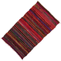 Indische Yogamatte Rot Teppich Handgewebter Baumwollteppich aus 100X170cm approx
