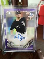 KONNOR PILKINGTON AUTO 2019 Bowman Chrome Autograph PURPLE REFRACTOR #/250 RC