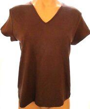 New Willi Smith M, medium Brown short sleeve v-neck knit top shirt