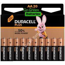 20x Duracell AA Plus Power Alkaline Batteries Duralock LR6 MN1500 MIGNON 2029exp