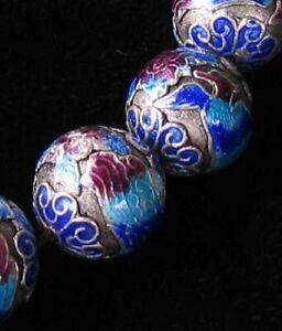 Phoenix 3 Fine Silver Cloisonne 16mm Round Beads 10568