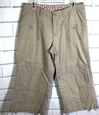 5291dfbcb1b3 MAGELLAN SPORTSWEAR Beige Linen Cotton Cropped Capri Pants Womens Size 10