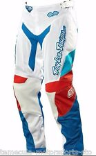 TROY LEE DESIGNS TLD MOTOCROSS MX GP AIR PANTS AIRWAY WHITE/BLUE WOMEN SIZE 5/6