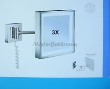 Smedbo Outline Badspiegel LED FK472 chrom 3-fach Kosmetikspiegel Rasierspiegel