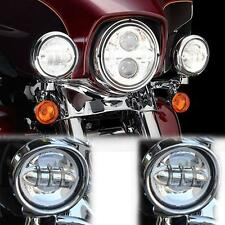 "4.5"" LED Daymaker Spot Passing Lights Fit Harley Road King Classic EFI FLHRCI"
