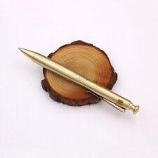 New Brass Retro Automatic Signature Press Tactical Pen Pocket Writing Pen P-23TS