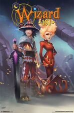 WIZARD101 POSTER ~  DALIA FALMEA & FRIENDS 22x34 Video Game Wizard 101 MMORPG