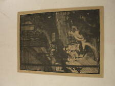 Frank Brangwyn 1902 auto litho Social Realist print