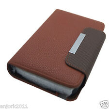 Samsung Galaxy Note II 2 Wallet Case w/ Card Slot Magnetic Closure Brown