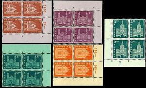Switzerland 1963/4 Building,Monument,Cathedral,Architecture,M.764,802,Blocks x4