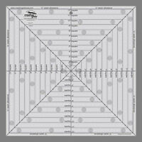 "12.5"" Square It Up FUSSY CUT Creative Grids NEW QUILT RULER Center Design Blocks"