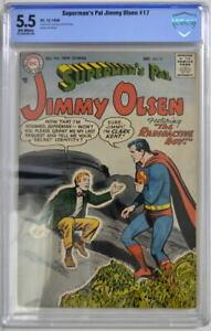 Superman's Pal JIMMY OLSEN 17 CBCS 5.5 DC 1956