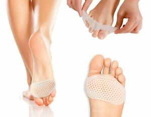 Pair Silicone Breathable Forefoot Insoles Metatarsal Pads Foot Cushion UK NEW