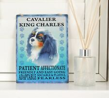 New Cavalier King Charles Dog Breed Sign Retro Shabby Chic Hanging Plaque Gift