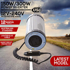 150W 300W Car Power Inverter 12V 240V USB Port Sine Wave DC Caravan Camping