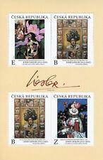 More details for czech republic art stamps 2020 mnh josef liesler paintings 4v m/s
